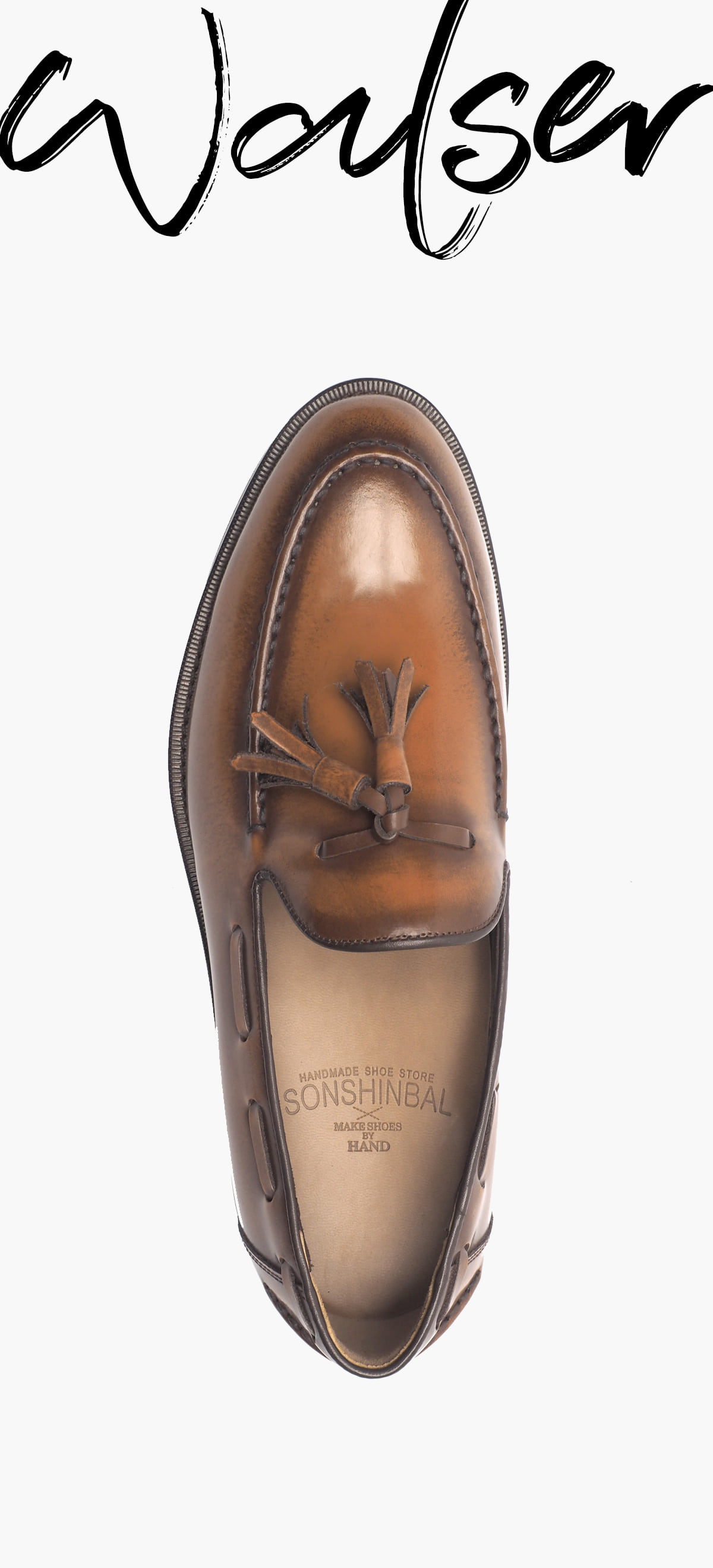 Tassel Loafer 2039-RW01 Hand Peeling _Brown